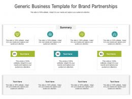 Generic Business For Brand Partnerships Infographic Template