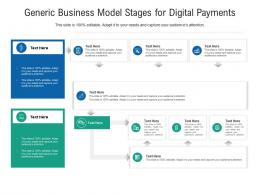 Generic Business Model Stages For Digital Payments Infographic Template