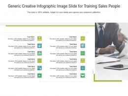 Generic Creative Image Slide For Training Sales People Infographic Template