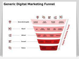 Generic Digital Marketing Funnel Generate Insights Ppt Powerpoint Presentation Topics