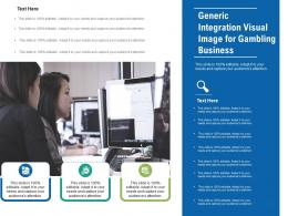 Generic Integration Visual Image For Gambling Business Infographic Template