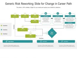 Generic Risk Reworking Slide For Change In Career Path Infographic Template