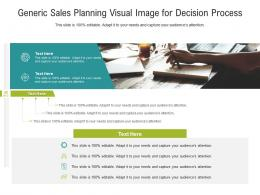 Generic Sales Planning Visual Image For Decision Process Infographic Template