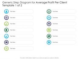 Generic Step Diagram For Average Profit Per Client Template 1 Of 2 Infographic Template