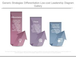 Generic Strategies Differentiation Low Cost Leadership Diagram Gallery