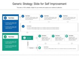 Generic Strategy Slide For Self Improvement Infographic Template