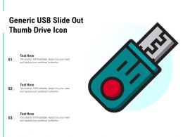 Generic Usb Slide Out Thumb Drive Icon