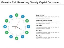 Generics Risk Reworking Genuity Capital Corporate Earnings Roads Bridges Cpb