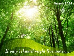 Genesis 17 18 God If only Ishmael PowerPoint Church Sermon