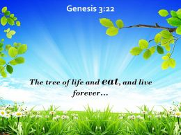Genesis 3 22 The Tree Of Life And Eat Powerpoint Church Sermon