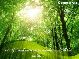 Genesis 9 1 Fruitful and increase in number PowerPoint Church Sermon