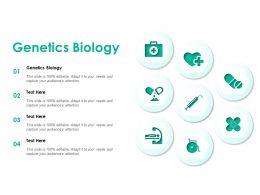 Genetics Biology Ppt Powerpoint Presentation Slides Example Topics