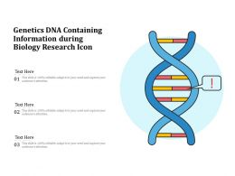 Genetics DNA Containing Information During Biology Research Icon
