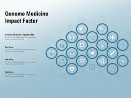Genome Medicine Impact Factor Ppt Powerpoint Presentation Outline Graphics Design