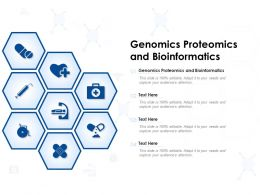 Genomics Proteomics And Bioinformatics Ppt Powerpoint Presentation Infographics