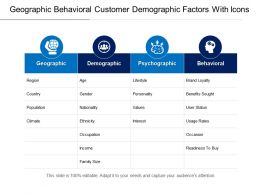 Geographic Behavioral Customer Demographic Factors With Icons
