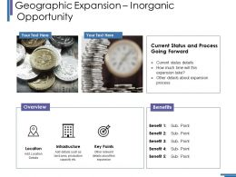 Geographic Expansion Inorganic Opportunity Ppt Layouts Graphic Images