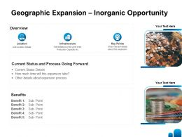 Geographic Expansion Inorganic Opportunity Ppt Powerpoint Template Design