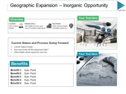 Geographic Expansion Inorganic Opportunity Ppt Slides Templates