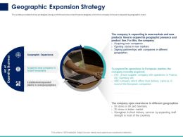 Geographic Expansion Strategy Ppt Powerpoint Presentation Model Styles
