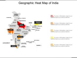 Geographic Heat Map Of India