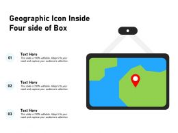 Geographic Icon Inside Four Side Of Box