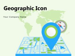 Geographic Icon Location Pointer Navigation Circle Document