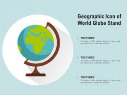 Geographic Icon Of World Globe Stand