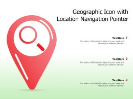 Geographic Icon With Location Navigation Pointer