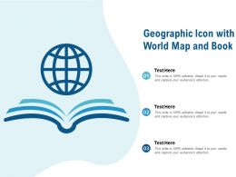 Geographic Icon With World Map And Book