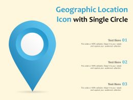Geographic Location Icon With Single Circle