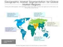Geographic Market Segmentation For Global Market Regions