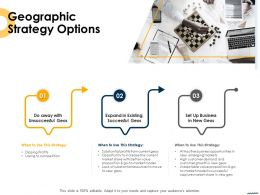 Geographic Strategy Options Ppt Powerpoint Presentation Styles Gridlines