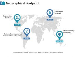 Geographical Footprint Ppt Icon
