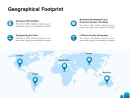 Geographical Footprint Ppt Powerpoint Presentation Gallery Icon