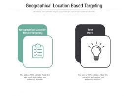 Geographical Location Based Targeting Ppt Powerpoint Presentation Summary Objects Cpb