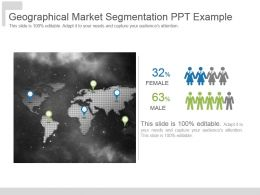 Geographical Market Segmentation Ppt Example