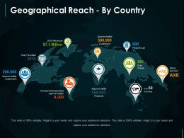 Geographical Reach By Country Ppt Inspiration
