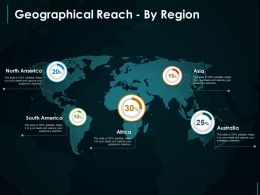 Geographical Reach By Region Powerpoint Slides