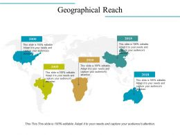 Geographical Reach Ppt Examples Slides