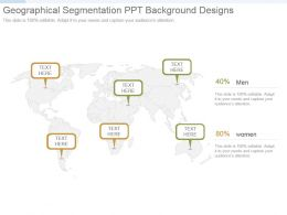 Geographical Segmentation Ppt Background Designs