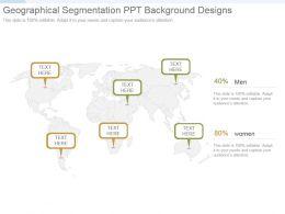 Geographical Segmentation Ppt Background Designs