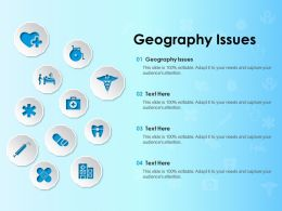 Geography Issues Ppt Powerpoint Presentation Gallery Show