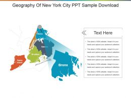 Geography Of New York City Ppt Sample Download
