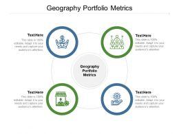 Geography Portfolio Metrics Ppt Powerpoint Presentation Ideas Graphics Example Cpb