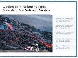 Geologists Investigating Rock Formation Post Volcano Eruption