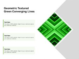 Geometric Textured Green Converging Lines
