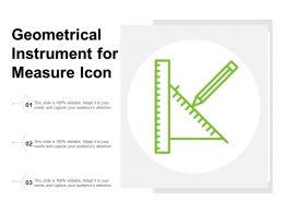 Geometrical Instrument For Measure Icon
