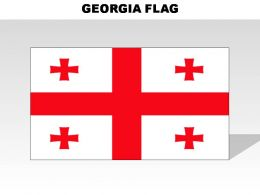 Georgia Country Powerpoint Flags