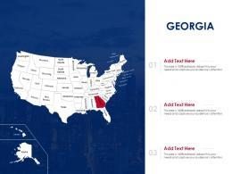 Georgia Map Powerpoint Presentation PPT Template
